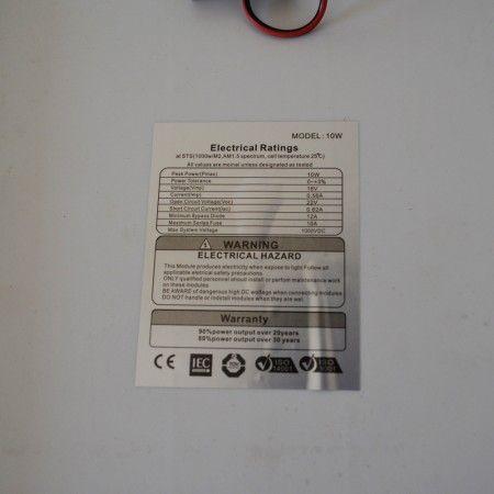 Painel Placa Solar Portátil 18v 10w Carregador Fotovoltaica