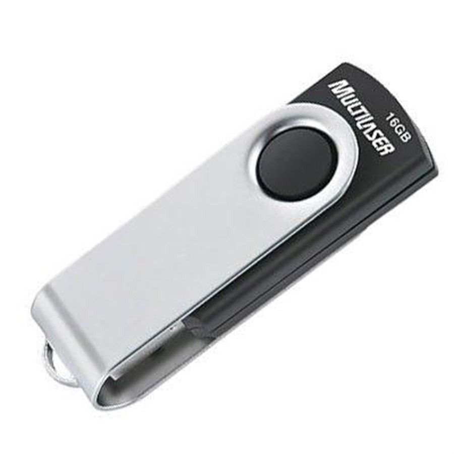Pendrive Multilaser TWIST Preto 32GB - PD589