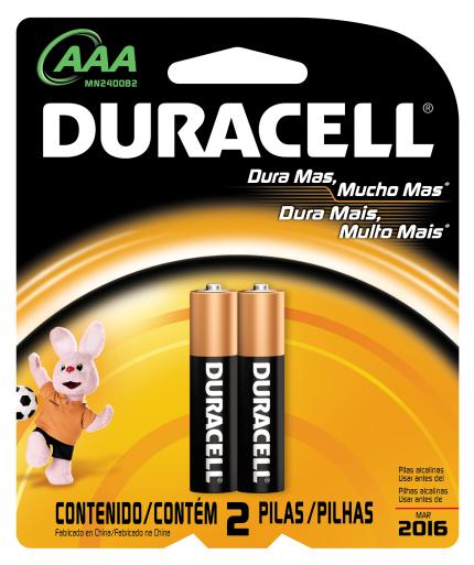 Pilha Alcalina Duracell AAA Pack Com 2 Pilhas - Palito