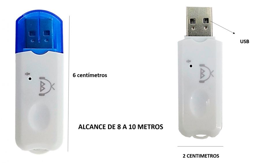 Receptor Bluetooth via usb