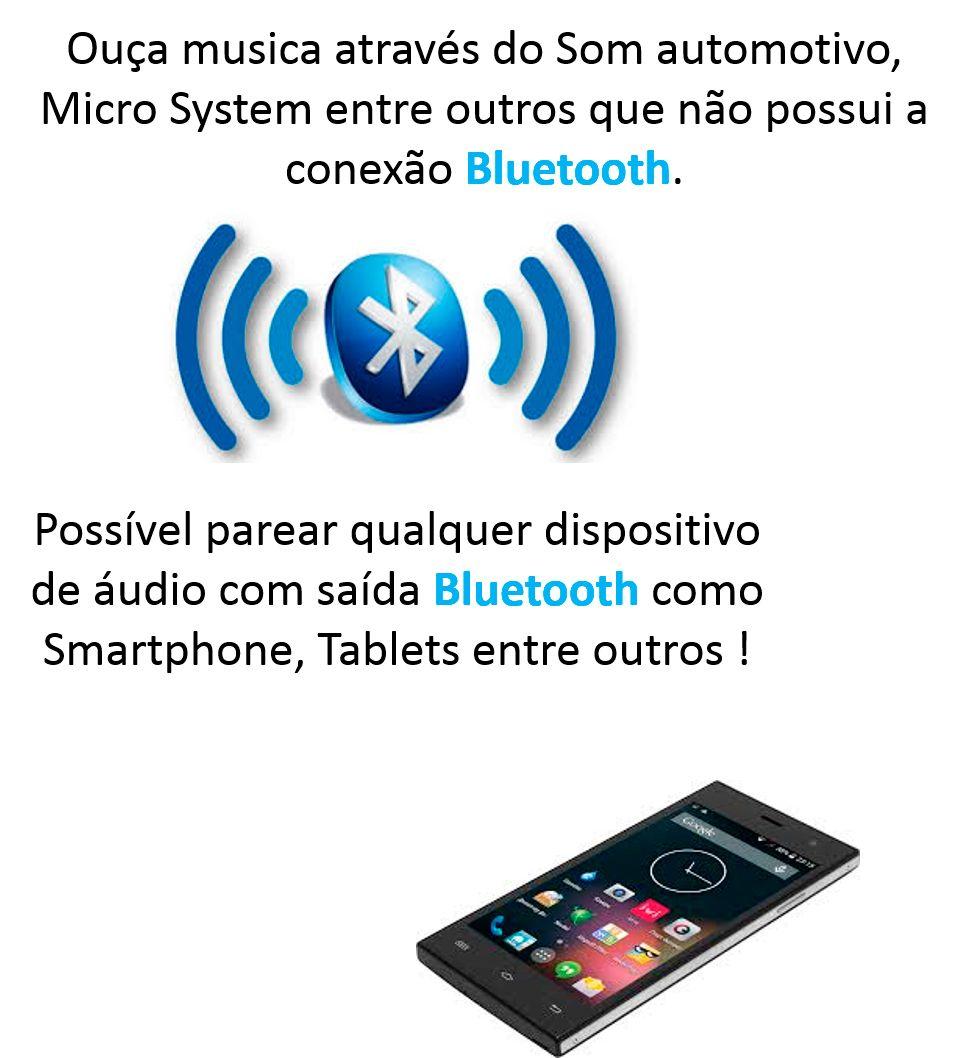 Receptor Bluetooth Adaptador Musica Chamada Carro Sem Fio