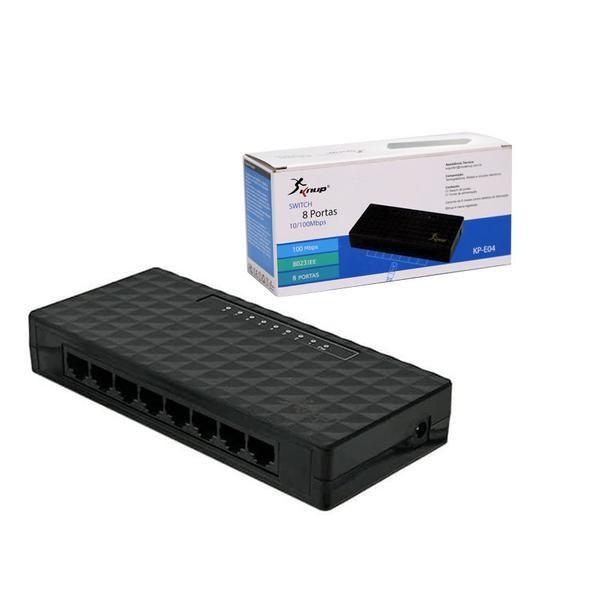 Switch De Rede 8 Portas 10/100mbps Knup