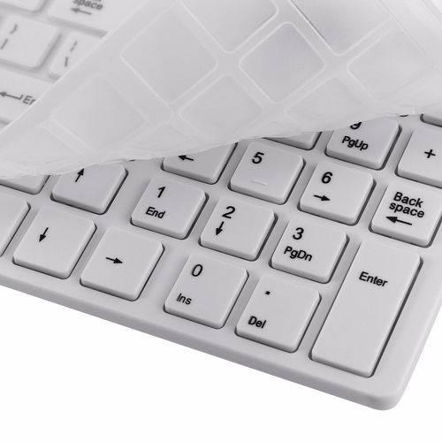 Teclado + Mouse Slim Sem Fio Wireless Keyboard Dock 2.4g Pc