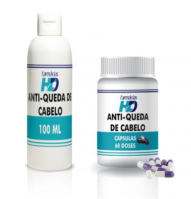Anti-queda de Cabelo = Shampoo 100 ml + Cápsulas 60 doses
