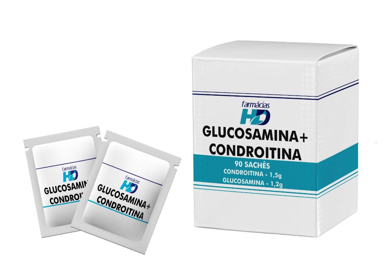 Glucosamina + Condroitina (Sachês) - 90 unidades