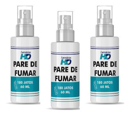 Pare de fumar - 3 Sprays de 180 jatos (60 ml)