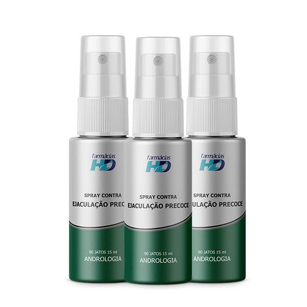 Sprays de Ejaculação Precoce (3 frascos) - 90 jatos
