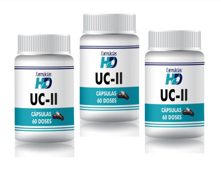 UC-II (Cápsulas) - Kit 3 potes com 60 doses CADA