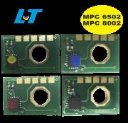 Chip para Toner Ricoh MPC 6502 Ricoh MPC 8002 Kit com as 4 Cores