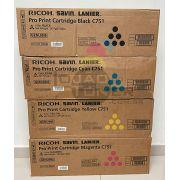 Kit Cartucho de Toner Ricoh Pro C 651 | Ricoh Pro C 751 - CYMK - Original