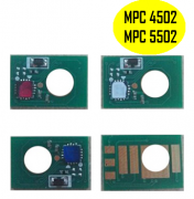 Kit de Chip Ricoh MPC 4502|Ricoh MPC 5502 - Kit com as 4 Cores