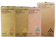 Kit de Toner com 4 cores Ricoh MPC 6501|MPC 7501 - 841358|841359|841360|841357 - Original