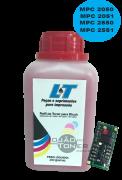Kit para Recarga com Refil de Toner  e Chip Ricoh Ricoh MPC 2030/2050/2050/2550/2551 - Magenta