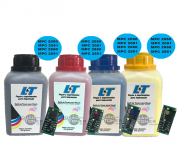 Kit Refil de Toner e Chip para Toner Ricoh MPC 2030|MPC 2050|MPC 2050|MPC 2550|MPC 2551 - Kit com as 4 cores
