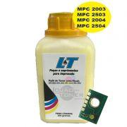 Refil de Toner e Chip para Ricoh MPC 2003/ MPC 2503/ MPC 2004/ MPC 2504 - Yellow 200 Gramas