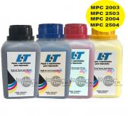 Refil de Toner  Ricoh MPC 2003|MPC 2503|MPC 2004|MPC 2504  - Kit com as 4 cores - 200 Gramas cada cor