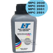 Refil de Toner  Ricoh MPC 2030/ MPC 2050/ MPC 2051/MPC 2550/MPC 2551-  Cor Black 200 Gramas