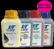 Refil de Toner Ricoh MPC 3002/ MPC 3502 - Kit com as 4 cores - 200 Gramas cada cor