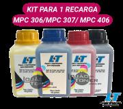 Refil de Toner  Ricoh MPC 306|MPC 307|MPC 406 - Kit com as 4 Cores