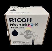 Tinta Preta para Duplicador Ricoh HQ 40 - 817113  - Original Ricoh