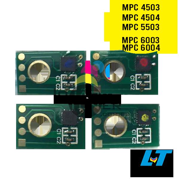 Chip para Toner Ricoh MPC 4503|MPC 4504|MPC 5503|MPC 6003|MPC 6004 CYMK