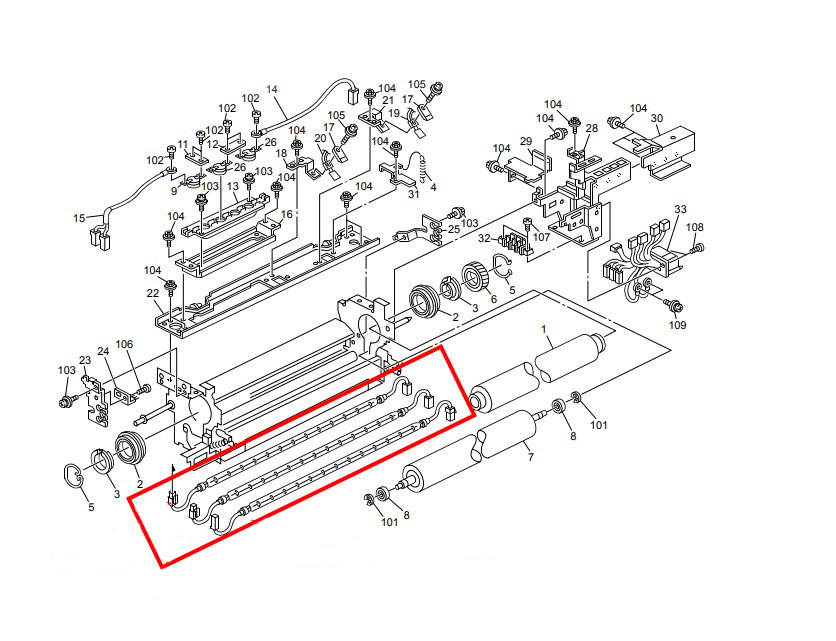 Conjunto de Lâmpada da Fusão para Ricoh Aficio 2051  2060   2075  Ricoh MP 5500 MP 6000 MP 6001 MP 6500 MP 7000 MP 7001 MP 7500 MP 8000 MP 8001 (AX440215   AX440213   AX440214)