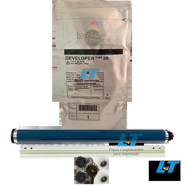 Kit Cilindro Lâmina Revelador e Kit de Engrenagens Ricoh Afício 1015/2015/MP 1500/MP 1900/ MP 2000/MP 2500 (B0399510 /AD0042059 / B1219640 / B0393245 / B0393062 / B0393060) - Compatíveis
