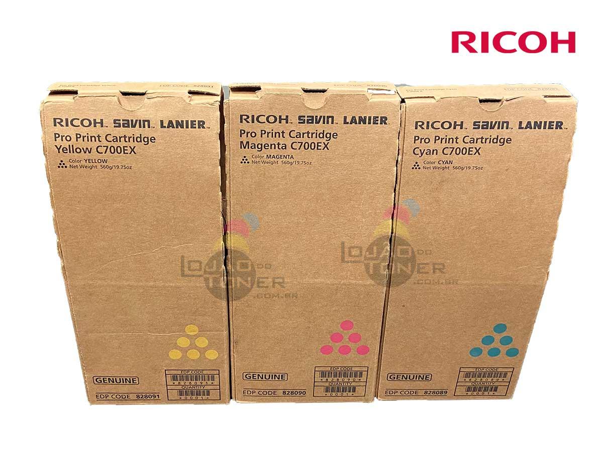 Kit Color de Cartucho de Toner Ricoh Pro C 700|Toner Ricoh Pro C550 - CYM - Original