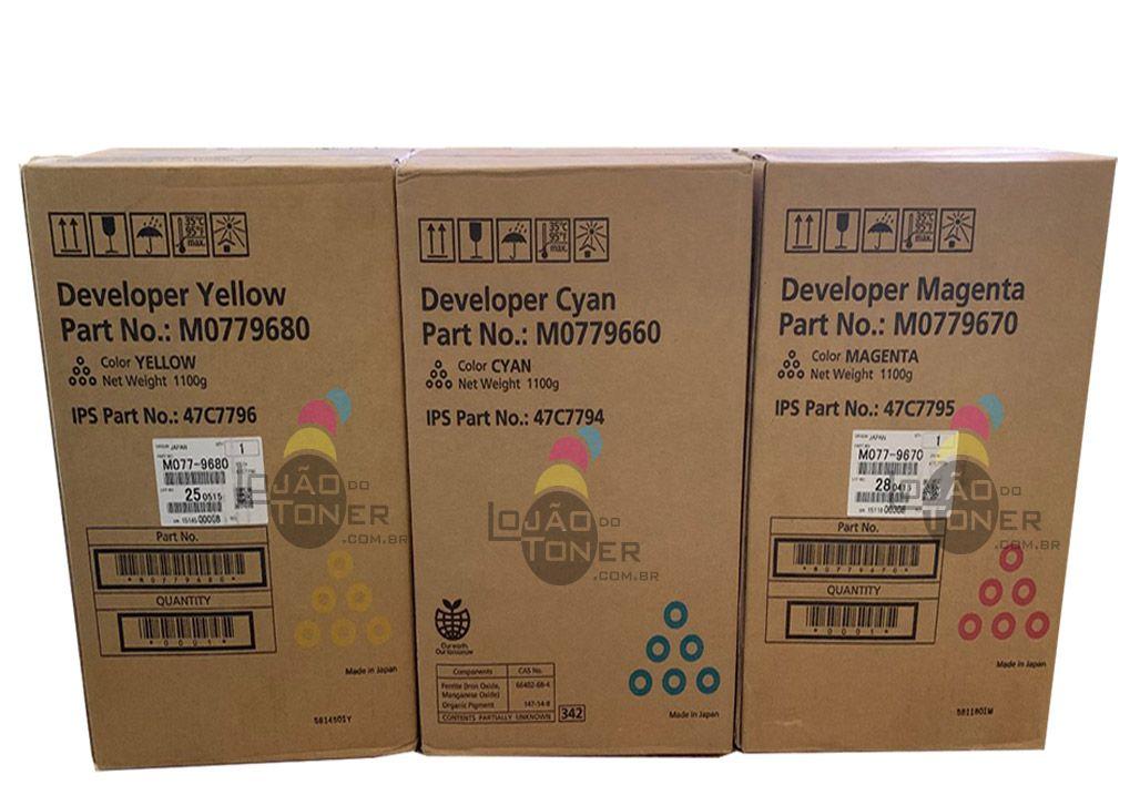 Kit Color Revelador Ricoh Pro C 901 CYM (M0779660/ M0779670/ M0779680) Originais
