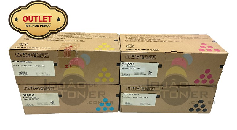Kit de Cartucho de Toner Ricoh SPC 232 | Ricoh SPC 242 | SPC 231 | SPC 311 (406475|406476|406477 |406478) Toner Ricoh SPC 310 Original