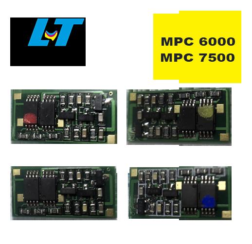 Kit  de Chip para Toner  Ricoh MPC 6000|Ricoh  MPC 7500 - 4 Cores