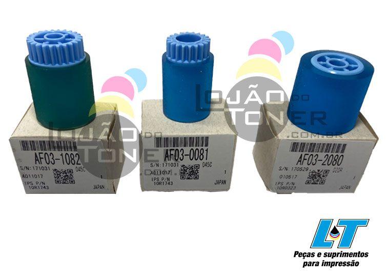 Kit de Rolete Ricoh 2060/ MP 6000 / MP 7000 / MP 8000 (AF031082 / AF030081 / AF032080) Padrão OEM
