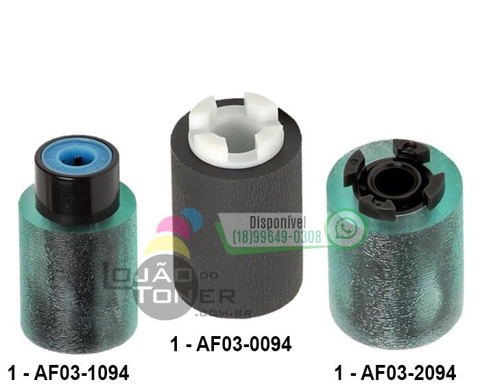 Kit de Rolete Ricoh MP 2554|MP 3054|MP 3554|MP 4054|MP 4055 |MP 4055| MP 5055| MP 6055| MPC 2003| MPC 2503| MPC 3003|MPC 3503|MPC 4503|MPC 5503| MPC 6003| MPC 6502| MPC 8002 AF031094|AF030094|