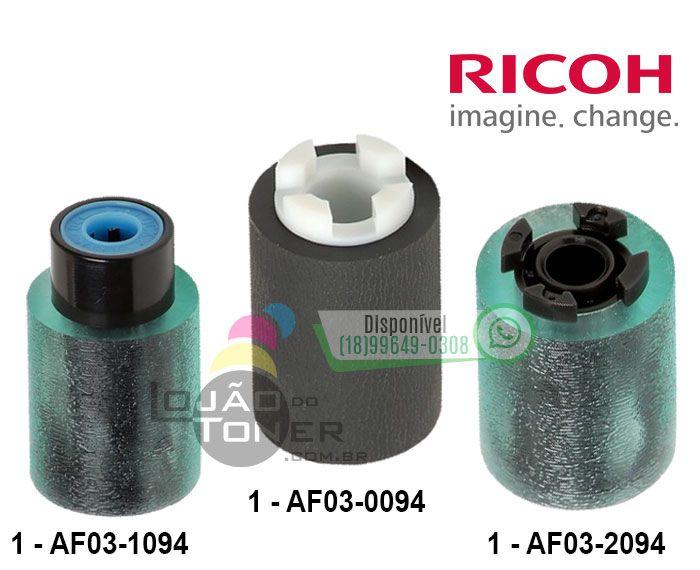 Kit de Rolete Ricoh MP 2554|MP 3054|MP 3554|MP 4054|MP 4055 |MP 4055| MP 5055| MP 6055| MPC 2003| MPC 2503| MPC 3003|MPC 3503|MPC 4503|MPC 5503| MPC 6003| MPC 6502| MPC 8002 AF031094|AF030094|AF032094