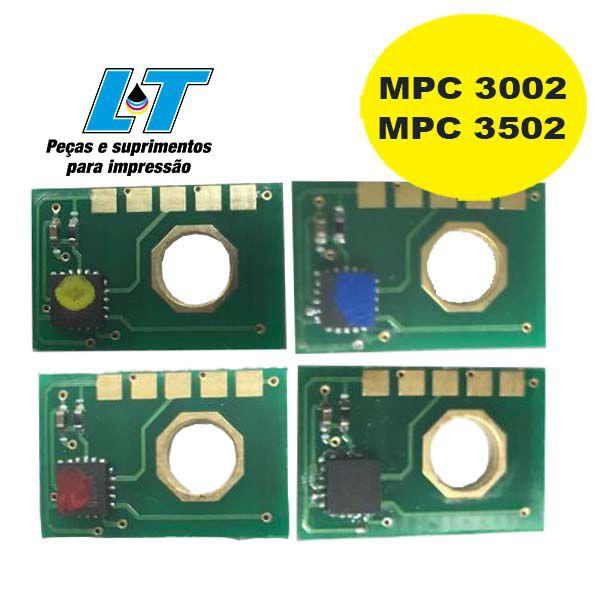 Kit Refil de Toner Ricoh MPC 3002| MPC 3502 com Chip - CYMK