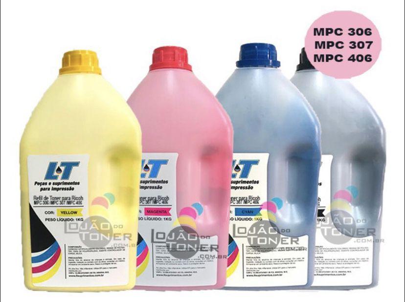 Refil de Toner  Ricoh MPC 306| MPC 307|MPC 406 - 1 Kg