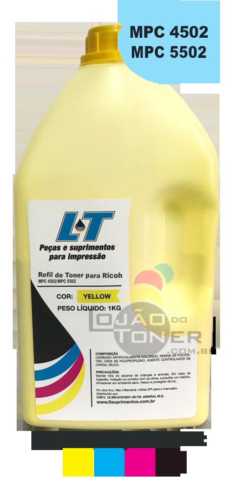 Refil de Toner Ricoh MPC 4502  / MPC 5502 - CYMK