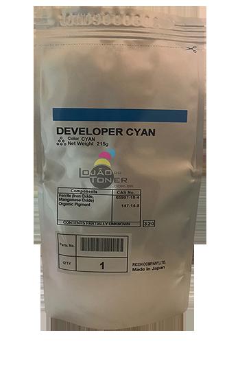 Revelador Ricoh MPC 2050|MPC 2550|MPC 2051|MPC 2551 cor Cyan Original Ricoh