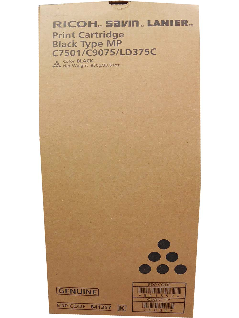 Toner Ricoh MPC 6501/ Ricoh MPC 7501 - Black - Original (841357)