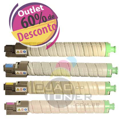 Toner Ricoh SPC 820/ SPC 821 Original - Kit com as 4 Cores