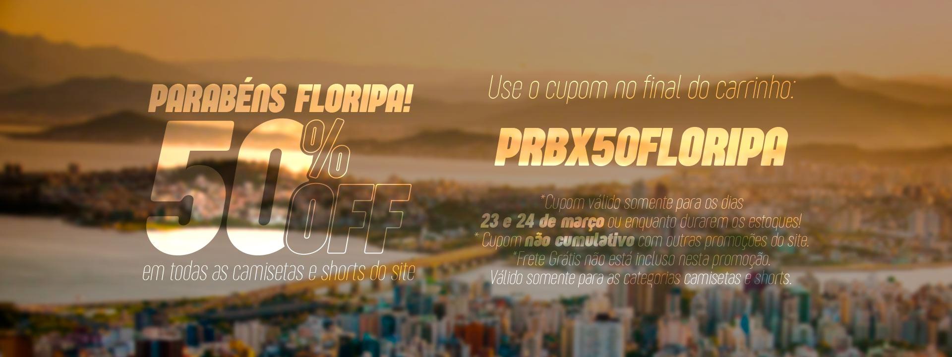 50% de desconto no aniversário de florianópolis
