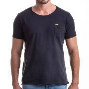 Camiseta Gradient Black Pocket Relax