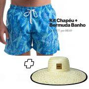 Kit Short Campeche + Chapéu de Palha Surf