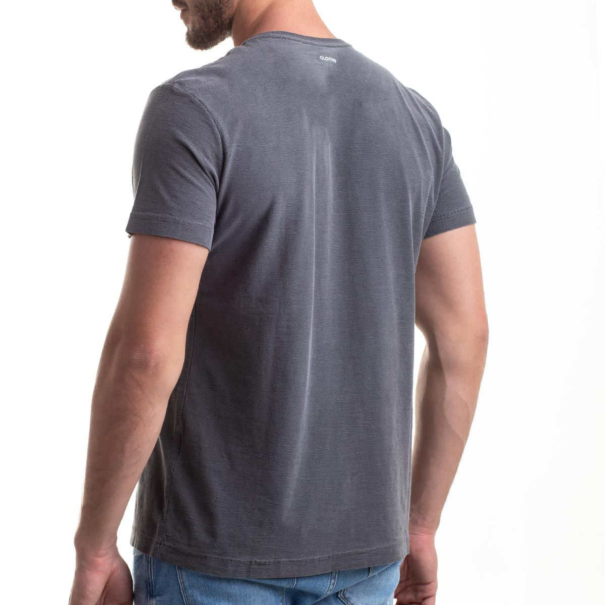 Camiseta Basic Grey Flamê Stone