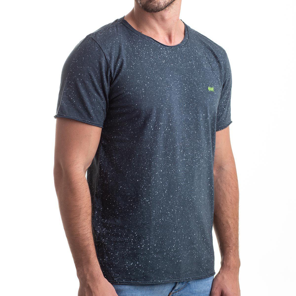 Camiseta Corrosion Blue Estonada Respingos