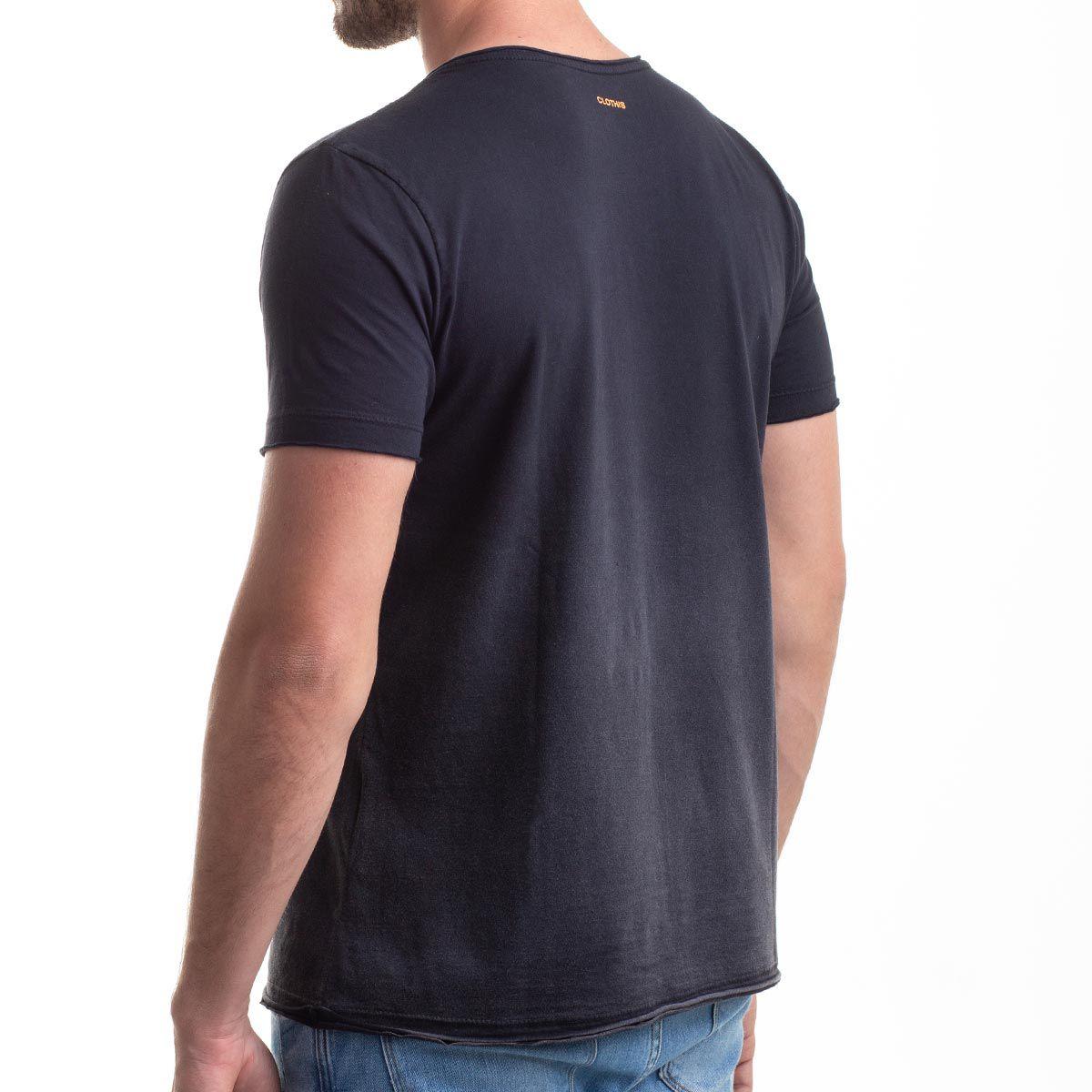 Camiseta Gradient Black Pocket Relax