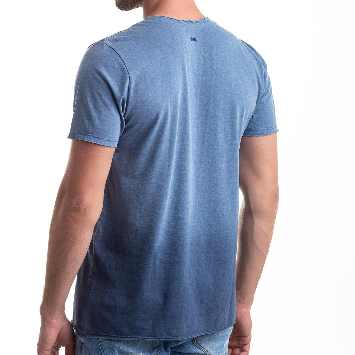Camiseta Gradient Relax Estonada Degradê