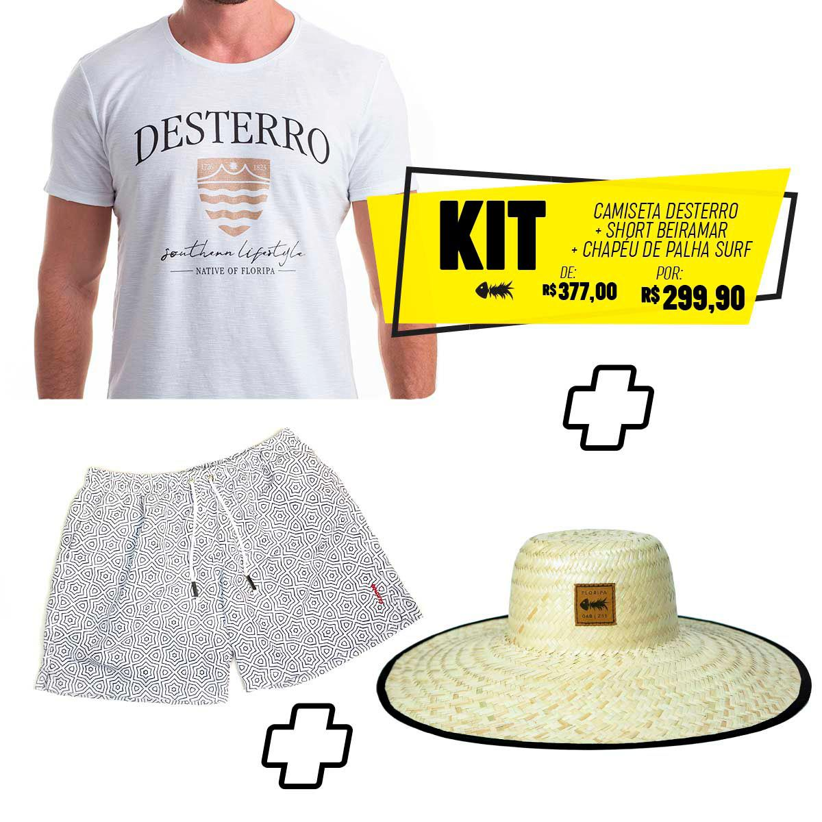 Kit Reveillon Clothis Camiseta + Short + Chapéu