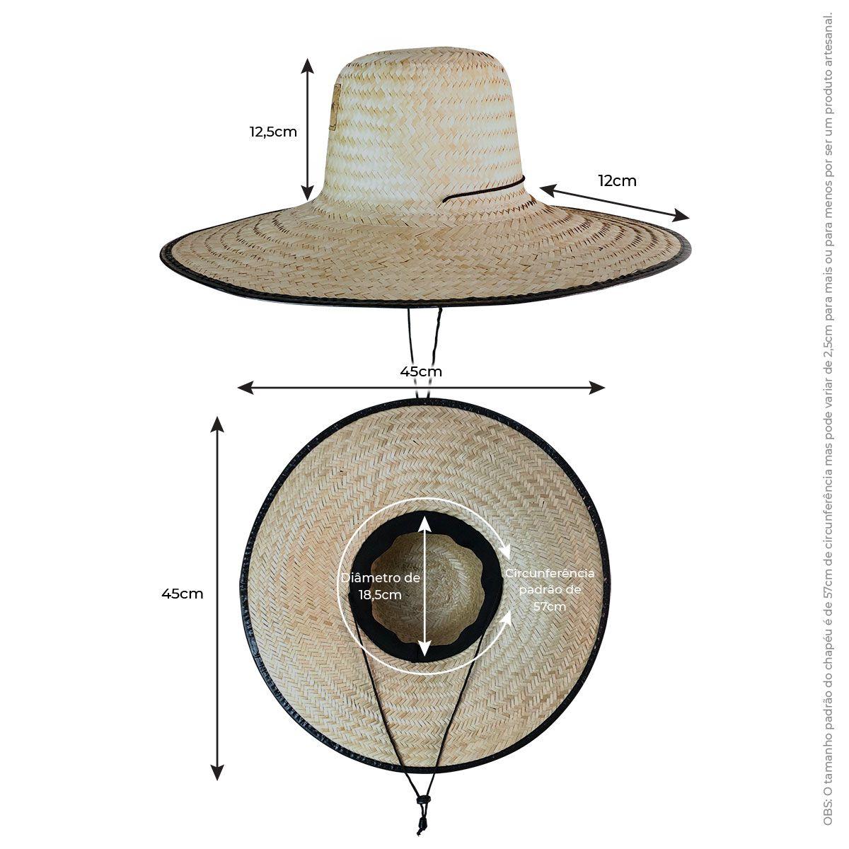 Kit Short Moçambique + Chapéu de Palha Surf