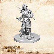Aasimar Female Paladin B - Miniatura RPG